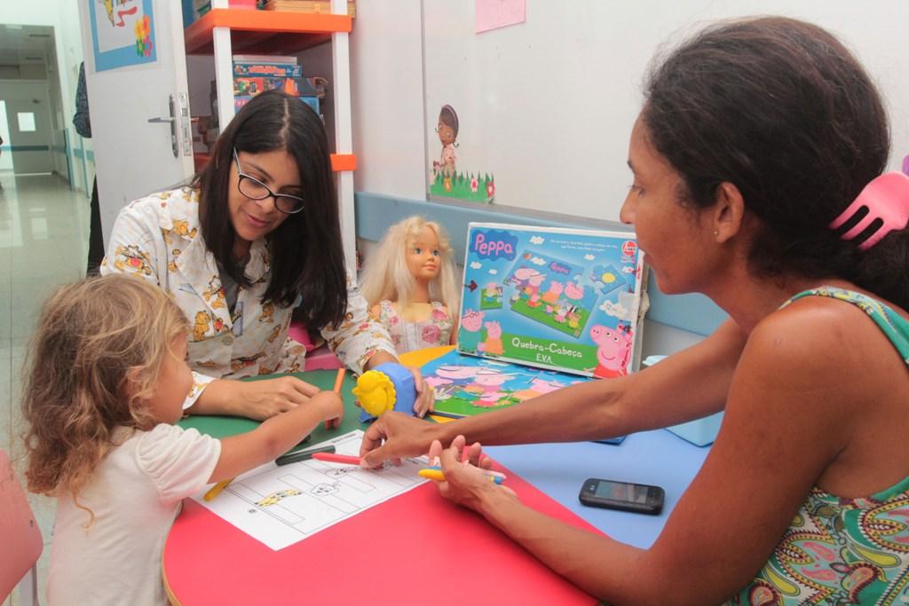 Classe hospitalar do HPM Macaé/RJ Foto: Ana Chaffin