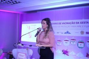 Atriz Juliana Didone, grávida de 8 meses, é madrinha da campanha que incentiva vacinação entre gestantes (Foto: Divulgação)