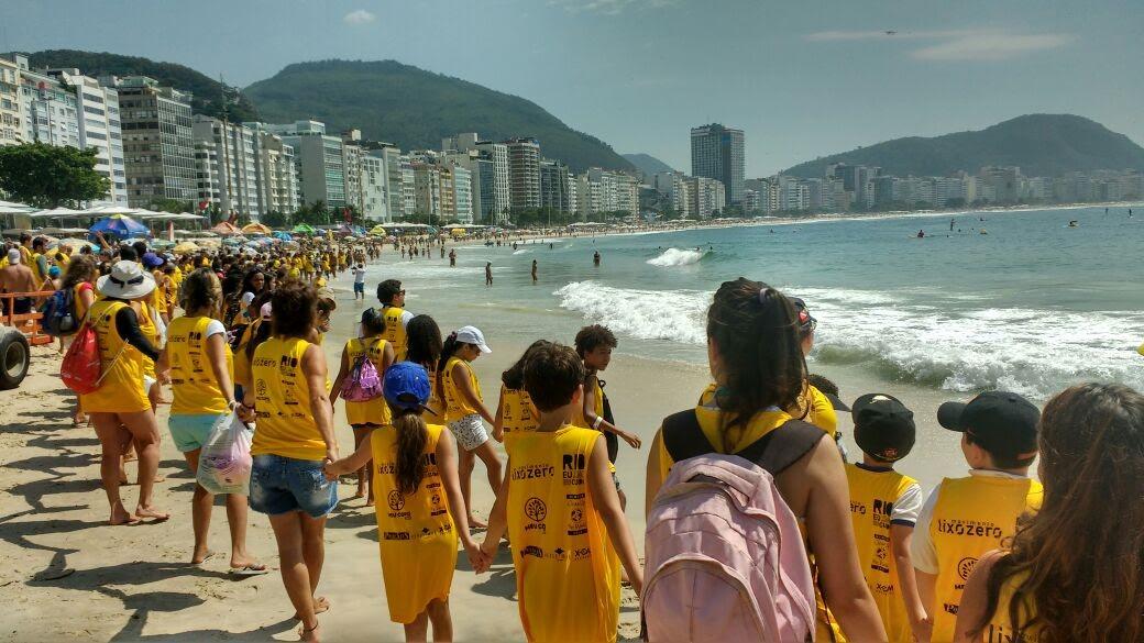 Clean Up limpeza da praia de Copacabana