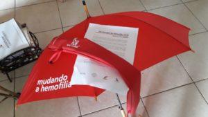 Guarda-chuva do projeto Mudando a Hemofilia