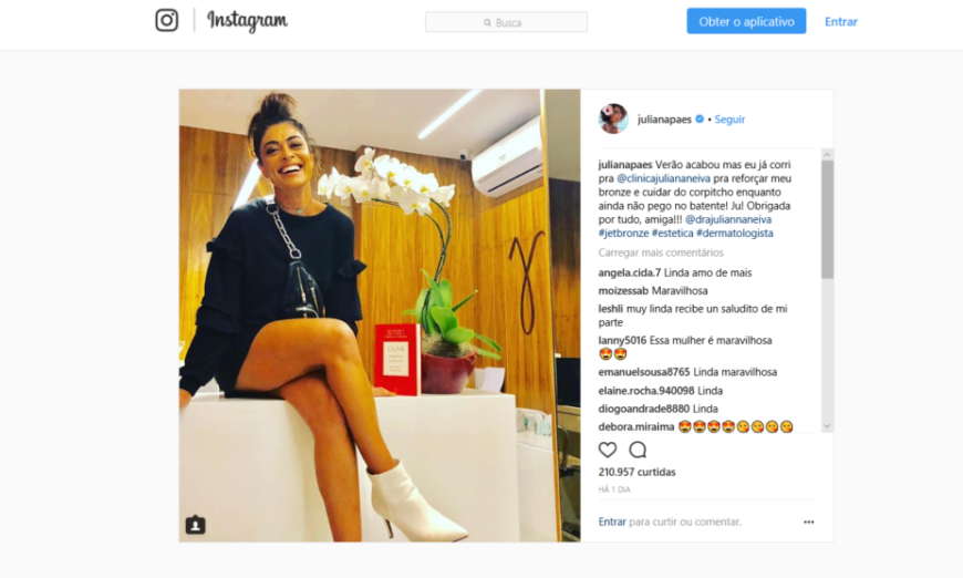 Juliana Paes revela no Instagram como mantém o bronzeado