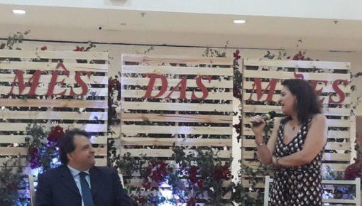 Clay e Luciana Brites em palestra no Shopping Tijuca