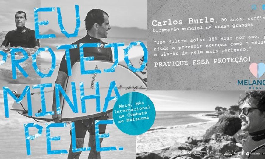 Carlos Burle na campanha Eu Protejo a Minha Pele