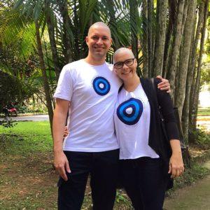 Luciana e Marcelo: apoio fundamental para vencer o câncer de mama
