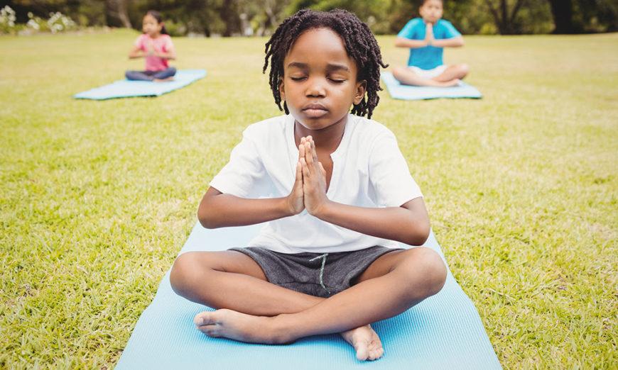 meditação para crianças na Copa