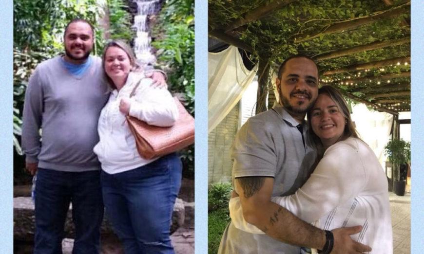 casal emagreceu 50 quilos